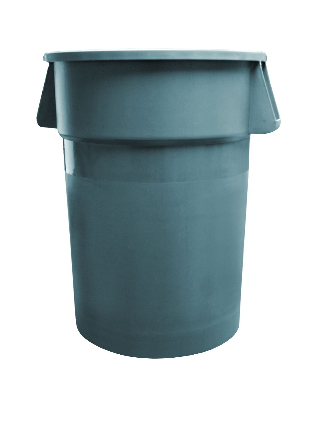 Update International TC-32G 32 Gallon Gray Plastic Trash Can - 1/2 doz
