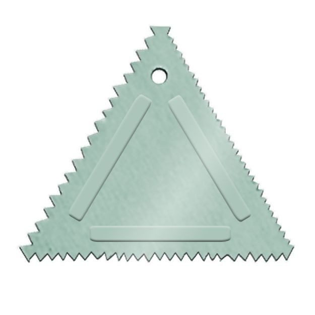 Update International TDC-AL Triangular Decorating Comb - 1/2 doz