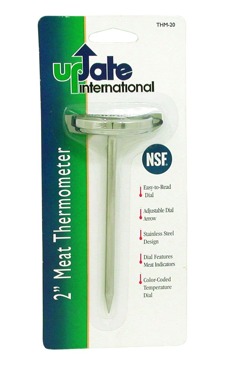 Update International THM-20 Dial Meat Thermometer 2""
