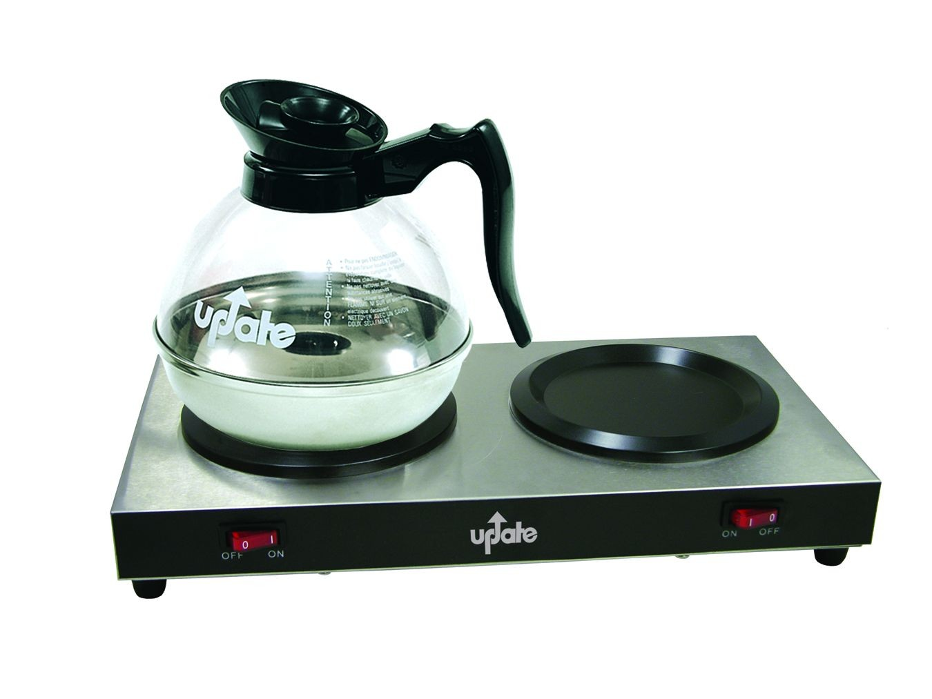 Update International THP Double Hot Plate Decanter Warmer