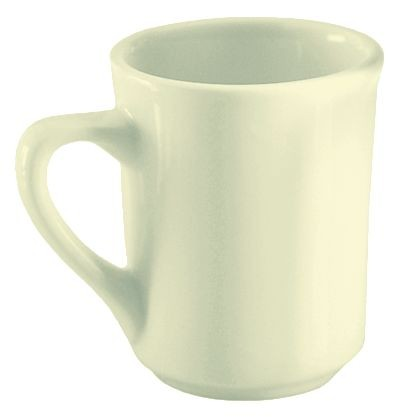 Update International TIA-75 Ivory 7.5 Oz. Tiara Mug - 3 doz