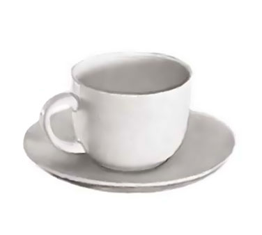 Update International TW-60SR White Ceramic Saucer for TW-60 - 3 doz
