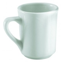 Update International TW-80 8 Oz. White Tiara Cappuccino Cup - 3 doz