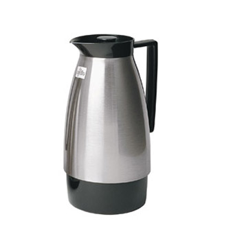 Update International UD1000N Black and Brushed Nickel Vacuum Server 1 Liter