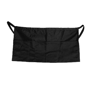 Update International WAP-BK Black Cotton Twill Waist Apron