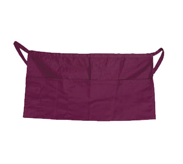 Update International WAP-BU Burgundy Cotton Twill Waist Apron