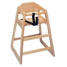Update International WD-HCA Assembled Natural Wood Baby High Chair