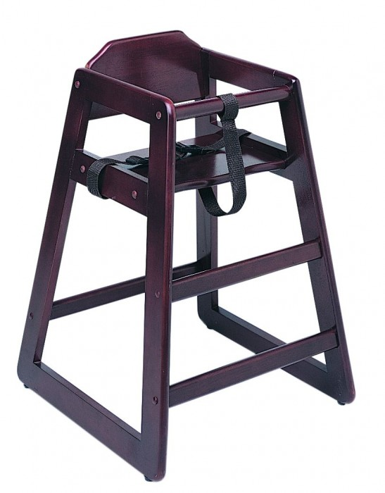 Update International WD-HCM Mahogany Baby High Chair