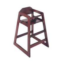 Update International WD-HCMA Assembled Mahogany Baby High Chair