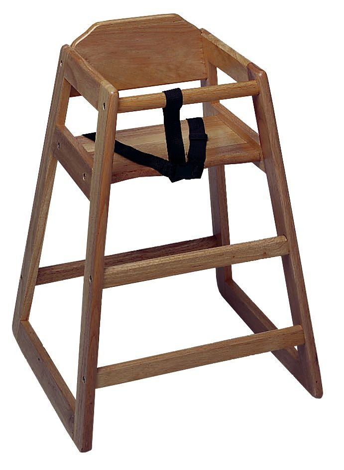 Update International WD-HCW Walnut Baby High Chair