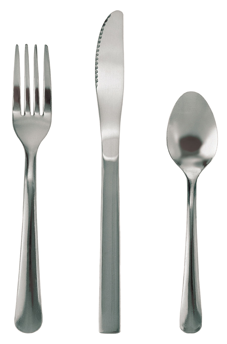 Update International WM/CP-33 Windsor Medium Weight Dessert Spoon in Clear Pack - 2 doz