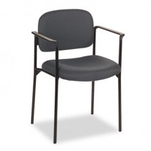 HON VL616 Scatter Charcoal Fabric Stacking Guest Chair with Arms