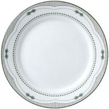 "Vertex China ARG-16-AC Argyle-Catalina Plate with Acorn Design 10-1/4"" - 1 doz"