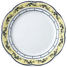 "Vertex China ARG-16-AVN Argyle-Catalina Plate with Aviana Design 10-1/4"" - 1 doz"
