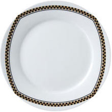 "Vertex China ARG-16-CP Argyle-Catalina Plate with Check Pointe Design 10-1/4"" - 2 doz"