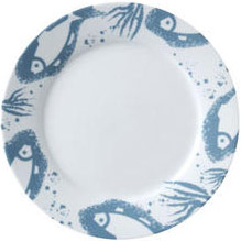 "Vertex China ARG-16-FS Argyle-Catalina Plate with Fins Design 10-1/4"" - 1 doz"