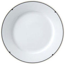 "Vertex China-ARG-6-BP Argyle-Catalina Plate with Black Pointe Design 6-1/2"" - 3 doz"