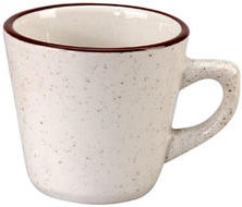 Vertex China CRV-1 7 Oz. Brown Speckled Double Band Cup - 3 doz