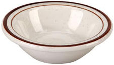 Vertex China CRV-11 Brown Speckled Double Band Fruit Bowl - 3 doz