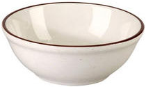Vertex China CRV-15 12-1/2 Oz. Brown Speckled Nappy Bowl - 3 doz