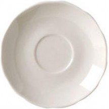 Vertex China CSC-36 Scalloped After Dinner Saucer - 3 doz