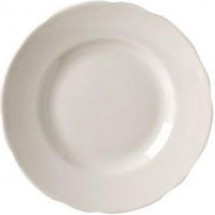 Vertex China CSC-6 6-3/8'' Scalloped Plate - 3 doz
