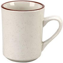 Vertex China CRV-17 Brown Speckled Double Band Mug - 3 doz