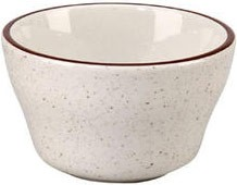 Vertex China CRV-4 Brown Speckled Bouillon Bowl with Double Band - 3 doz