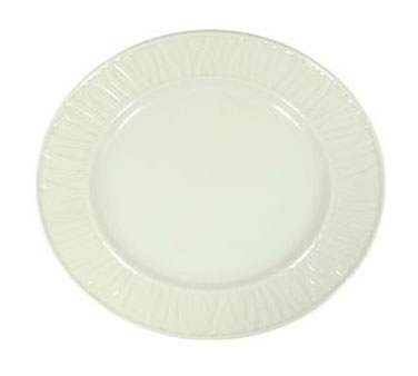 "Vertex China GV-21-W-G Grass Valley Plate Cilantro 12""- 1 doz"