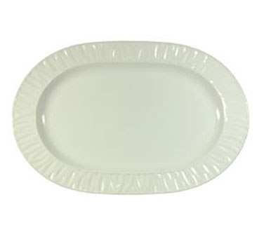 "Vertex China GV-94-W-G Grass Valley Oblong Platter Cilantro 13""- 1 doz"