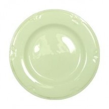 """Vertex China KF-8-PN-FG Kentfield Plate with Pendant Forest Green Pattern 9""""- 2 doz"""