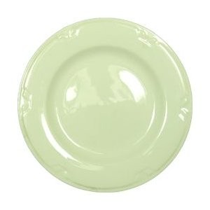 "Vertex China KF-8-PN-FG Kentfield Plate with Pendant Forest Green Pattern 9""- 2 doz"