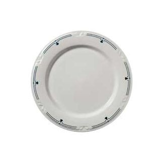 "Vertex China KF-9-PN-FG Kentfield Plate with Pendant Forest Green Pattern 9.75""- 2 doz"