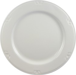 "Vertex China KF-9-PN-TC Kentfield Plate with Pendant Terra Cotta Pattern 9.75""- 2 doz"