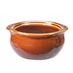 Vertex China OSC-10-B 10 Oz. Solid Brown Onion Soup Crock - 2 doz