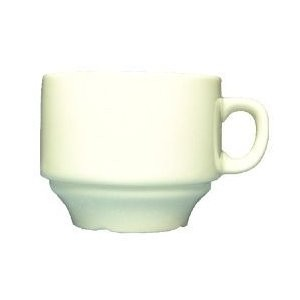 Vertex China SK-35-PN-FG Kentfield Stackable A.D. Cup with Pendant Forest Green Pattern 3 Oz. - 3 doz