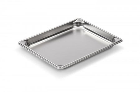 "Vollrath 30212 Super Pan V 1/2 Size Anti-Jam Stainless Steel Steam Table / Hotel Pan 1-1/4"" Deep"