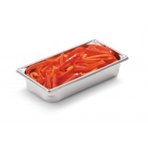 """Vollrath Super Pan V 1/3 Size Anti-Jam Stainless Steel Steam Table / Hotel Pan 2-1/2"""" Deep"""