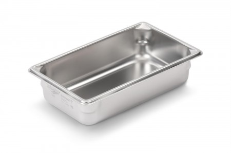 "Vollrath 30342 Super Pan V 1/3 Size Anti-Jam Stainless Steel Steam Table / Hotel Pan 4"" Deep"