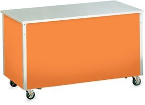 """Vollrath 36122 Signature Server Utility Station with Stainless Steel Countertop 60"""" x 28"""" x 30"""""""