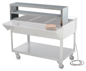 Vollrath 38033 Double Deck Overshelf for Vollrath 3 Well / Pan Hot or Cold Food Tables