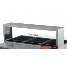 Vollrath 38052 Single Deck Cafeteria Guard with Acrylic Panel for Vollrath 2 Well / Pan Hot or Cold Food Tables