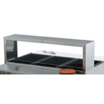 Vollrath 38053 Single Deck Cafeteria Guard with Acrylic Panel for Vollrath 3 Well / Pan Hot or Cold Food Tables
