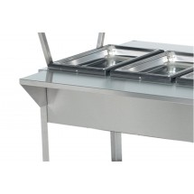 """Vollrath 38092 Plate Shelf for Vollrath ServeWell 2 Well / Pan Hot or Cold Food Tables 32"""""""