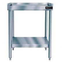 "Vollrath 40742 Stainless Steel Standard Duty Equipment Stand with Galvanized Undershelf 48"" x 24"""
