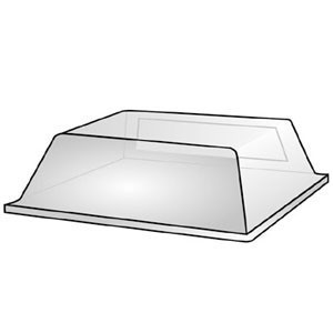 "Vollrath 40825 Single Door Sneeze Guard 27"" x 16"""