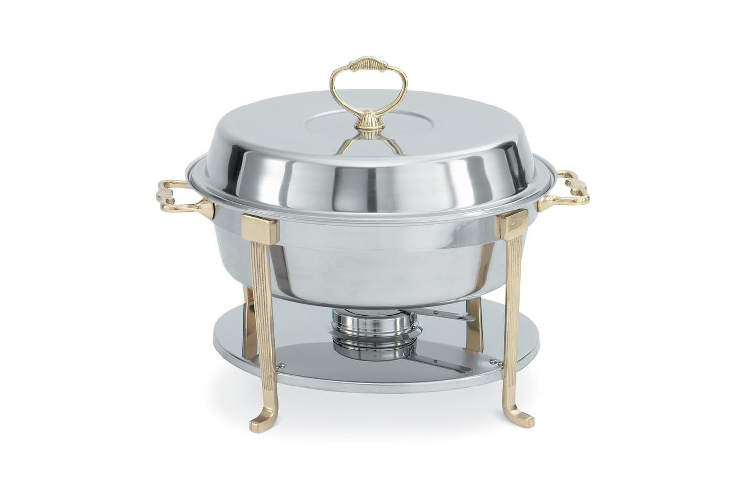 Vollrath 46030 Classic Round Chafer with Brass Trim 5,8 Qt.