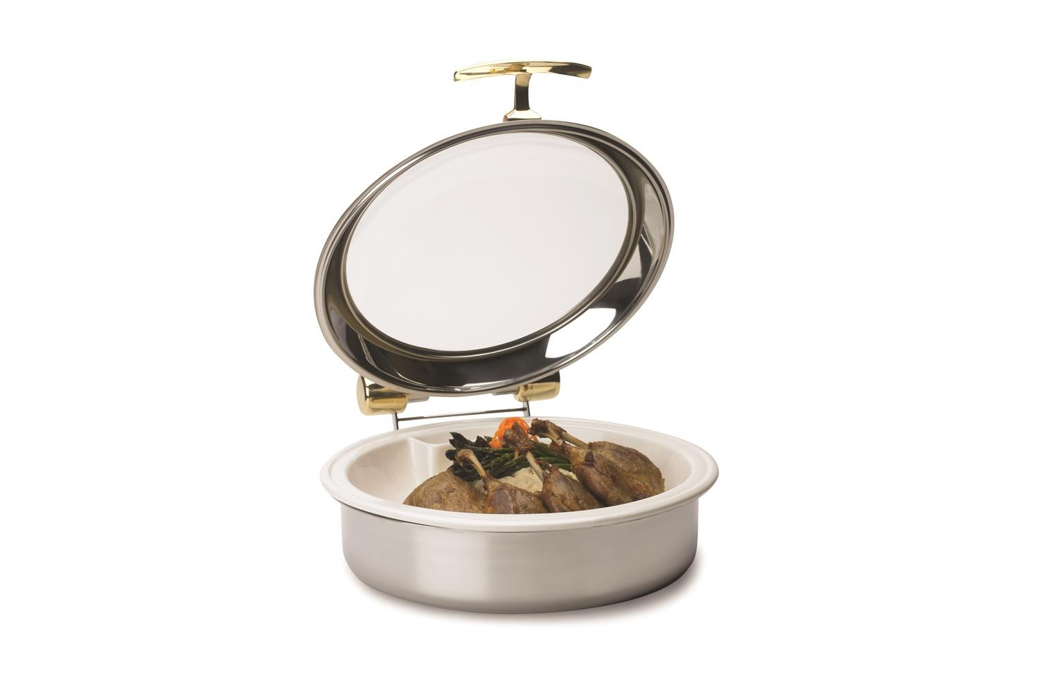 Vollrath 46122 Intrigue Glass Top Round Induction Chafer 6 Qt.