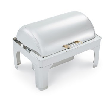 Vollrath 46255 New York, New York Retractable Dripless Full Size Chafer with Brass Trim 9 Qt.