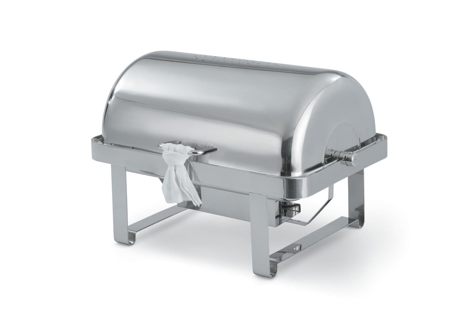 Vollrath 46350 Avenger Roll Top Rectangular Full Size Chafer 9 Qt,